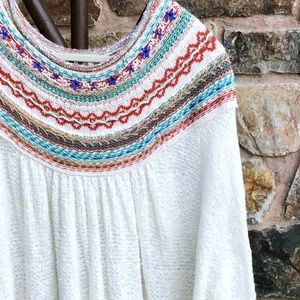 FREE PEOPLE Oversized Knit {Vacation Sweater} LG